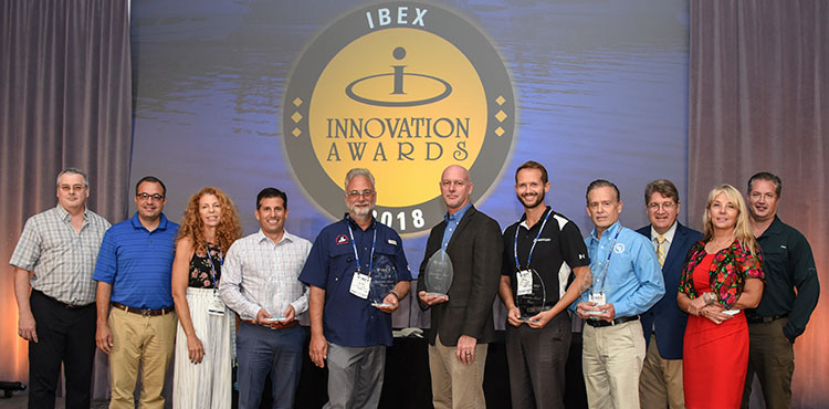 Innovation Award winners at awards breakfast