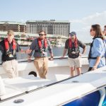 Emerging Marine Leaders on the boat