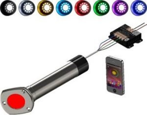 LED RGB Lighted Rod Holder Cap