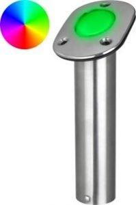 Stainless Steel LED RGB Rod Holder
